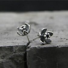 Vintage Sterling S925 Silver Earrings Women Girl Perfect Flower Stud Earrings