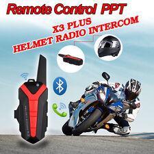 BT Interfono Casco Da Moto Cuffie Walkie Talkie Bluetooth Interphone+PTT