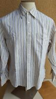 GIEVES &HAWKES Men's Multi-color Stripes Ctn Btn Front LS Shirt L Hongkong