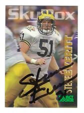 Steve Everitt Autograph On A 1993 SkyBox RC - Cleveland Browns