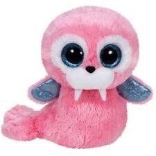 "NWT TY Beanie Boos 6"" TUSK Walrus Plush Boo Sparkly Glitter Eyes Pink 2015 NEW"