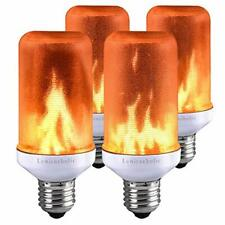Flame Bulb,Lumiereholic E27 LED Flame Flickering Effect Fire Light New Year