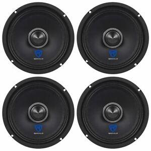 "(4) Rockville RXM64 6.5"" 600w 4 Ohm Mid-Range Drivers Car Speakers, Mid-Bass"