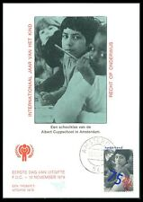 NL MK 1979 Année de l'enfant Year of the Child maximum CARTE MAXIMUM CARD MC bb73