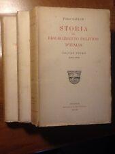 ITALO RAULICH - STORIA DEL RISORGIMENTO POLITICO D' ITALIA - 1920/1922/1923