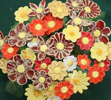 """Keramikblumen, Set """"Sommer"""" Blume, Stele, Garten Dekoration, winterfest"""