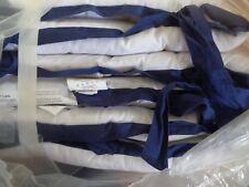 Pottery Barn KIDS NEWPORT CRIB BUMPER-WHITE/NAVY=-NEW W/ TAGS