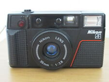 Nikon L35AF2 35mm Compact Film Camera + Case - Good Condition - Fully Working