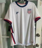Men Nike USA VaporKnit Match Home Jersey White Soccer 2020-21 CD0592-100 Size XL