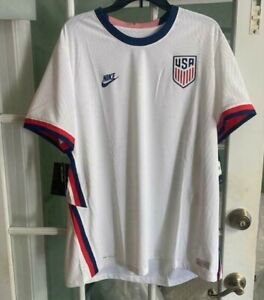 Men Nike USA VaporKnit Match Home Jersey White Soccer 2020-21 CD0592-100 Size XL