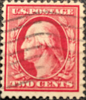 Vintage Scott #375 US 1910 Washington Postage Stamp Perf 12
