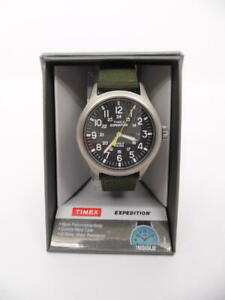 Timex Men's Expedition Scout Watch w/ Nylon Strap - Gray/Black/Green - T49961JT