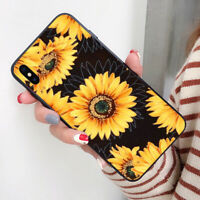 Luxury Sunflower Pattern Phone Case Cover For iPhone 6 7 8 Samsung S9 Huawei P20
