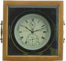 GUB Glashütte Marine- Schiffs Chronometer 56h Auf-Ab Anzeige, selten, Kal. 100