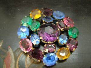 "Vintage Crystal marked ""Made in Czechoslovakia""  Brooch RRK1"