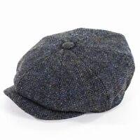 Failsworth Carloway Harris Tweed Bakerboy Cap - Blue /Grey