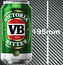 VB Beer Can Sticker Suit MAN CAVE BAR Window Boat Camping Speedway Race Trailer