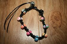 Nalu Beads Black Anklet/Bracelet Bnwot