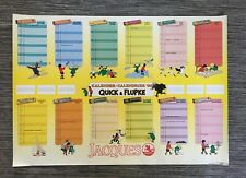 HERGE *** GRAND CALENDRIER CHOCOLATS JACQUES QUICK & FLUPKE *** ANNEE 1988