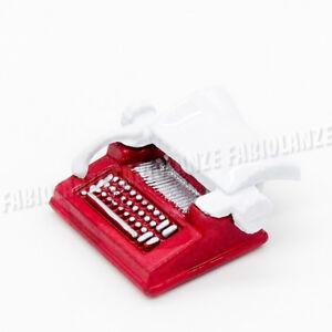 1:12 Miniatur Retro Schreibmaschine Rot Für Puppenhaus