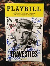 Tom Hollander And Cast Signed Travesties Playbill