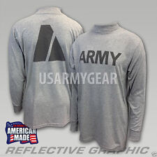 NEW US Military ARMY Grey Moisture Wicking PT PTU Long Sleeve LS T-Shirt IPFU