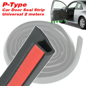 2M Universal P-shape Car Door Edge Rubber Trim Seal Strip Hollow Weatherstrip