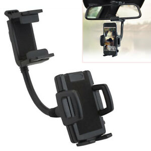 360° Car Rearview Mirror Mount Holder Stand Bracket Cradle For Phone/GPS/PDA/MP4