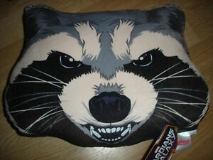 """NEW Guardians of the Galaxy 2014 movie Plush pillow 13"""" X 11"""" Rocket"""