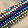"Natural Hematite Gemstone Round Beads 16"" Metallic Color 3mm 4mm 6mm 8mm 10mm"