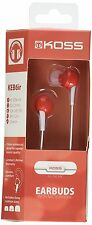 KOSS-HEADPHONES KEB6IR RED EARBUD WITH MICROPHONE NEW-FREE SHIPPING