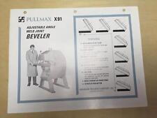 American Pullmax Co Brochure ~ X91 Weld Joint Beveler ~ Machine Tool Catalog