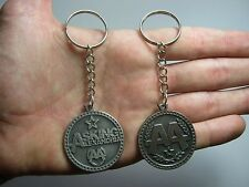 Asking Alexandria AA doble sided Pendant Keychain Keyring Key Pewter Silver 011