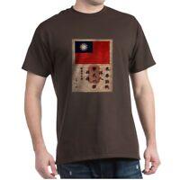 CafePress Flying Tigers Blood Chit Dark T Shirt 100% Cotton T-Shirt (155081908)