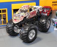 Zombie Monster Jam Truck Hot Wheels 1:64 Scale Die-Cast Metal Car Loose