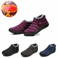 Waterproof Winter Women Shoes Snow Boots Fur-lined Slip On Warm Ankle Size New