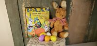 VINTAGE STYLE EASTER BUNNY RABBIT PAAS EGG COLOR ADVERTISING  8 X 10 CANVAS
