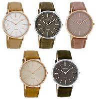 ooZoo C7330 C73331 C7332 C7333 C7334 VINTAGE 40mm Leder rose gold silber Uhr