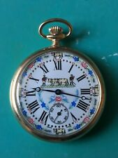 Butcher pocket watch 17 Jewels swiss made excellent working &condition