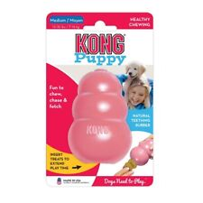 New KONG Puppy Dental Rubber Chew Toy. Puppy Teething, Treat Dispenser. 3 Sizes