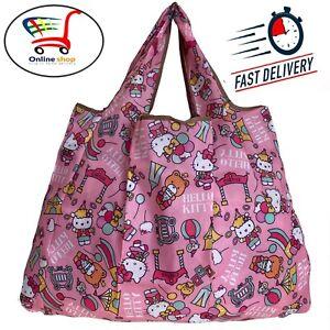 New Large Size HELLO KITTY Waterproof Reusable Travel Shopping Bag Handbag Women