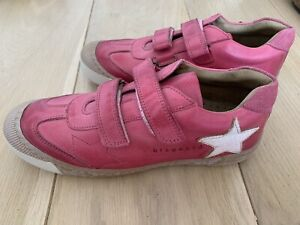 💜💙💜 Designer Bisgaard Girls Pink Leather Trainers. UK 3 / EUR 36