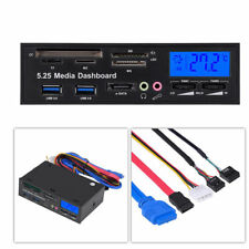 "USB 3.0 5.25"" High Speed Media Dashboard Front Panel PC Multi Card Reader ESATA"