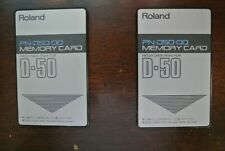 Roland D50 Factory Preset Cards. This is for One(1) .