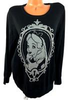 NWT  Disney by Torrid black gray Alice in wonderland plus pullover sweater 2X
