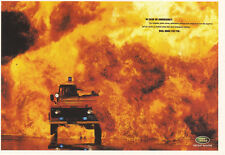 Landrover Defender Emergency Vehicle Police Fire advert Collectable postcard