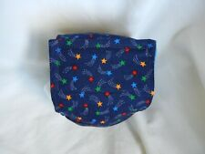 """Dog Puppy Belly Band Wrap Contoured Diaper Male Puppy Flannel lined 13"""" STARS"""