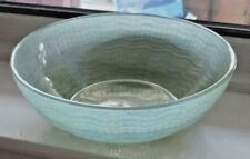 "ART DECO CHANCE GLASS FRUIT BOWL SIGNED CHANCE  9 1/2"" GREEN"