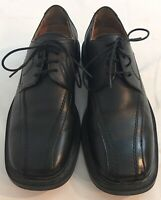 Skechers Mens 9 Black Leather Uppers Lace Up Dress Shoes