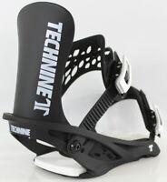 Technine Icon Classic Snowboard Bindings, Large (US Men's 9-13) Black New 2021